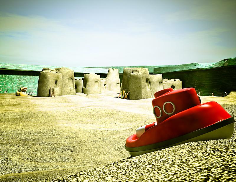 Summer Sand Box Fun 05 by mdkgraphics