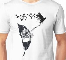 Vintage print with Edgar Alan Poe Poem and Raven Silhouette: Break Free  Unisex T-Shirt