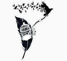 Vintage print with Edgar Alan Poe Poem and Raven Silhouette: Break Free  Unisex T-Shirt