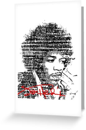 Jimi Hendrix (Text) by SkinnyJoe