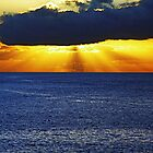 Sunset on the ocean by gluca