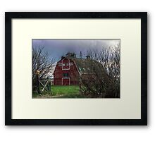 Big Red Barn is Closed Framed Print