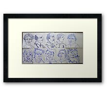 sheets of cartoons Framed Print