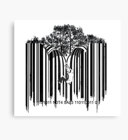 UNZIP THE CODE barcode graffiti print illustration Canvas Print