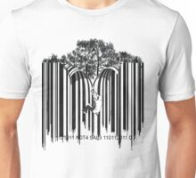 UNZIP THE CODE barcode graffiti print illustration Unisex T-Shirt