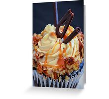 Turtle Cupcake! Chocolate with caramel filling Greeting Card