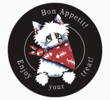Cat Bon Appetit! Gourmet Pet Foods Product Stickers {Black} by offleashart