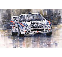 Lancia 037 Martini Rally 1983  Photographic Print