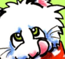"Cat ""Bone Appetit!"" Gourmet Pet Foods Envelope Stickers {Olive} Sticker"