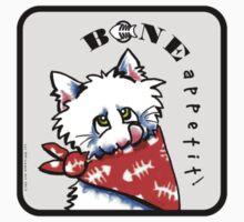 "Cat ""Bone Appetit!"" Gourmet Pet Foods Envelope Stickers {Platinum} by offleashart"