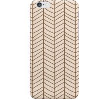 Seamless pattern with hand drawn chevron line grid iPhone Case/Skin