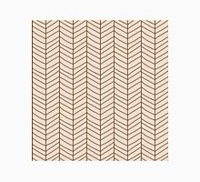Seamless pattern with hand drawn chevron line grid Unisex T-Shirt