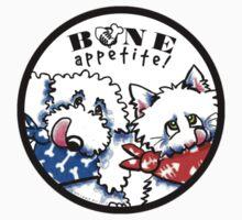 "Dog & Cat ""Bone Appetit!"" Gourmet Pet Foods Product Stickers by offleashart"