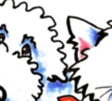 "Dog & Cat ""Bone Appetit!"" Gourmet Pet Foods Product Stickers Sticker"