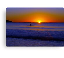 Paddle into the light Canvas Print