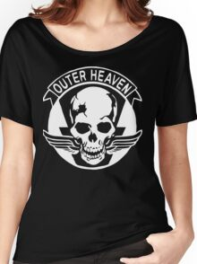 Outer Haven Logo White Women's Relaxed Fit T-Shirt