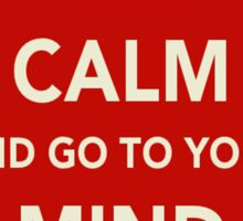 Keep Calm and Go to Your Mind Palace Sticker