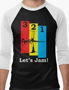3, 2, 1, Let's Jam! Men's Baseball ¾ T-Shirt