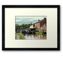 On the way down - lock 3, Braunston...................! Framed Print