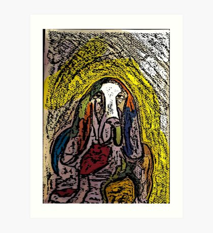 Basset Abound with Color Art Print