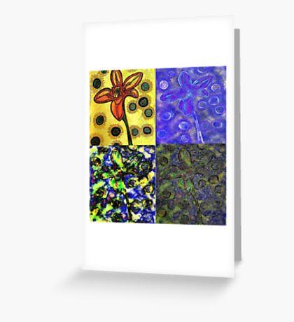 Fab Four Flower Greeting Card