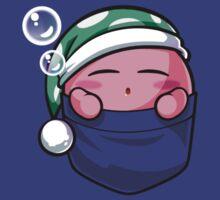 Sleeping Pocket Kirby T-Shirt by Purrdemonium