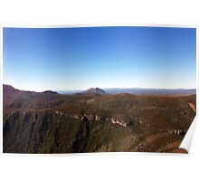 Beautiful Tasmania - Alpine landscape from the air Poster