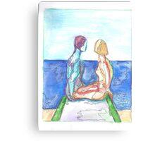 Man, Woman, One Canvas Print