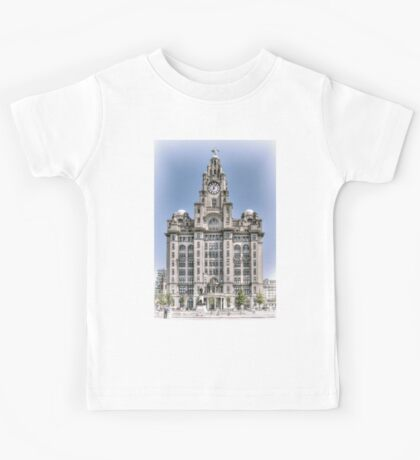 The Liver Building - Hand tinted effect Kids Tee