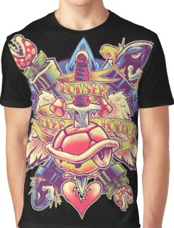 BOWSER NEVER LOVED ME (full color) Graphic T-Shirt