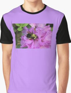 Bumble Bee on Rhododendron Graphic T-Shirt