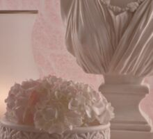 Pink Hydrangeas Still Life  Sticker