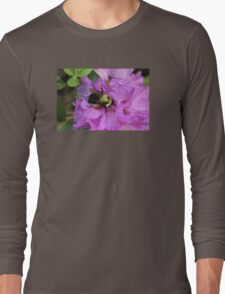 Bumble Bee on Rhododendron Long Sleeve T-Shirt