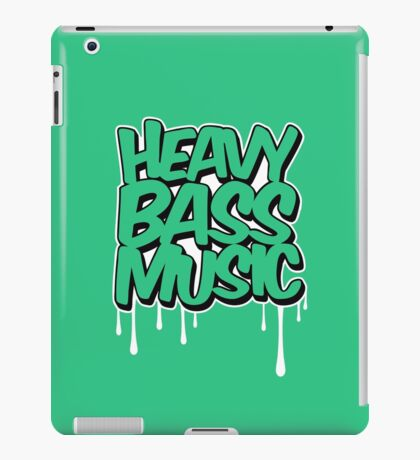 HEAVY BASS MUSIC / TRAP / DUBSTEP / DNB / TECHNO iPad Case/Skin
