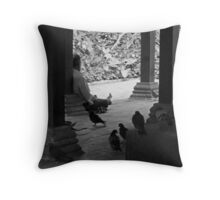 Sleeping with the pigeons  Throw Pillow