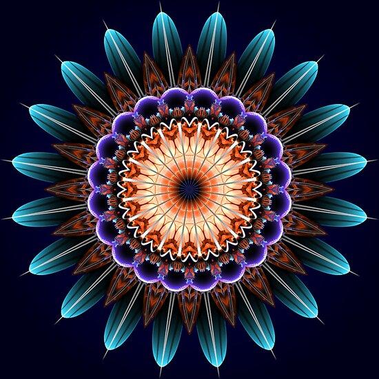 Purple Sphere Flower Kaleidoscope 22 by fantasytripp