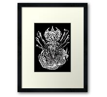 LONG LIVE THE QUEEN (black and white) Framed Print