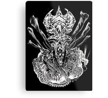 LONG LIVE THE QUEEN (black and white) Metal Print