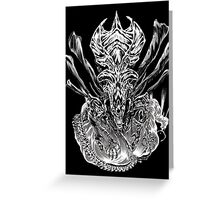 LONG LIVE THE QUEEN (black and white) Greeting Card