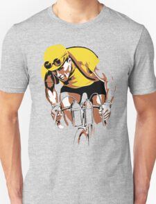 The yellow Jersey, the champ, retro style cycling T-Shirt