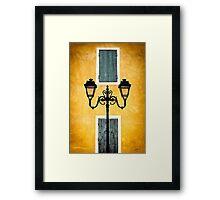 Streetlights of Provence Framed Print