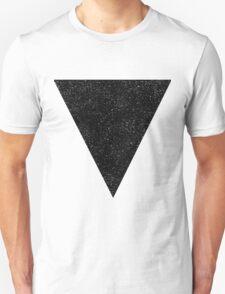 Black Starry Triangle Unisex T-Shirt
