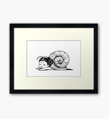 Snailgirl Framed Print