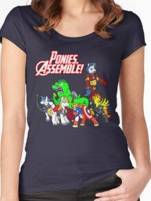 Ponies, assemble! Women's Fitted Scoop T-Shirt