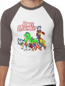 Ponies, assemble! Men's Baseball ¾ T-Shirt