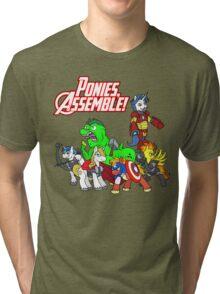 Ponies, assemble! Tri-blend T-Shirt