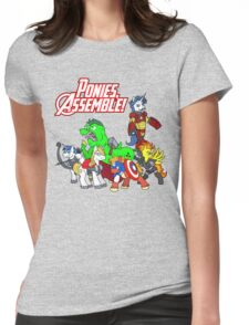 Ponies, assemble! Womens Fitted T-Shirt