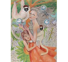 Mother Universe with Daughter Earth and the Lemurs Photographic Print