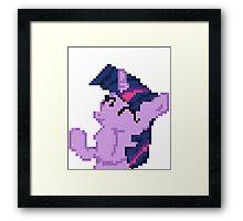 Twilight Sparkle Pixel my little pony Brony Pegasister Framed Print