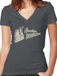 brooklyn dodgers 2 Women's Fitted V-Neck T-Shirt